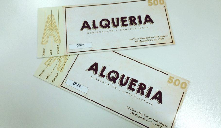 alqueria gift certificate