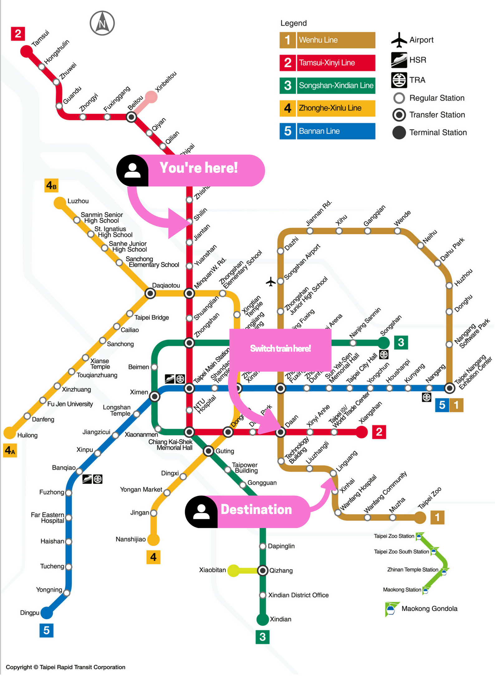 MRT Tips For A HassleFree Taipei Vacation - Japan map mrt