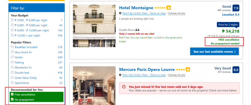 schengen-visa-application-hotel-booking