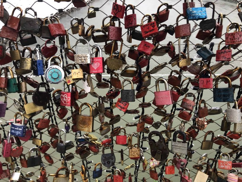 love locks makartsteg bridge